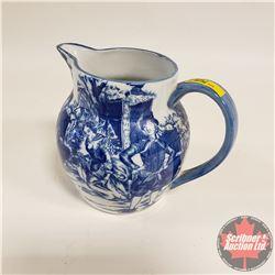 Victoria Ware Ironstone Pitcher - Blue/White
