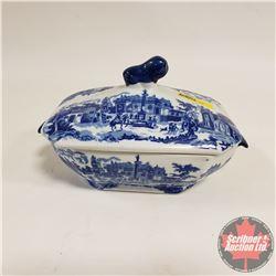 Victoria Ware Ironstone Covered Serving Dish - Blue/White