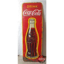 "Tin Sign : Drink Coca-Cola (53"" x 17-1/2"")"
