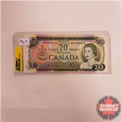 Canada $20 Bill 1969 S/N#WW1404363 (Lawson/Bouey)