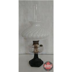 Aladdin Coal Oil Lamp w/Shade (White & Black)