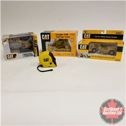 CAT Tray Lot: CAT 611 Wheel Tractor Scraper (1/64 Scale); Caterpillar Dion Track Type Tractor (1/50