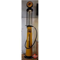"Prairie Cities Buffalo Wayne ""Tall 10"" - 10 Gallon Visible Gas Pump - Original Glass Pro Restoration"