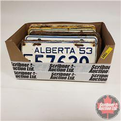 Tray Lot: Variety License Plates (23) (Mostly 1950's Alberta)