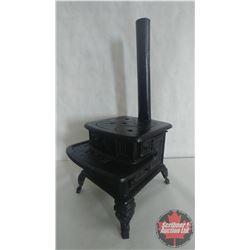 "1870's Detroit Stove Works Dictator Cast Iron Salesman Sample Stove (9-1/2"" x 21-1/2"" x 10-1/2"")"