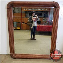 "Large Art Deco Bevelled Mirror (60""H x 50""W)"