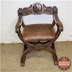 "Italian Renaissance Carved Back Chair (31""H)"