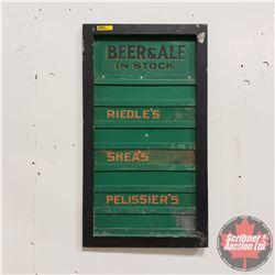 """Bar/Tavern Vintage Tin Sign (Removeable Item Slats) 26""""x14-1/2"""""""
