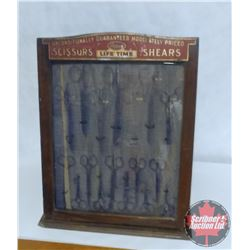 """Country Store Wooden Scissors Display Case (15"""" x 20"""" x 12"""")"""