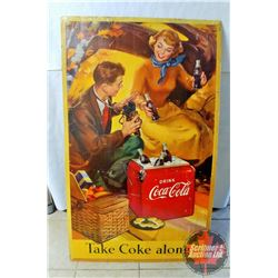 Large Coca Cola Cardboard Double Sided Sign