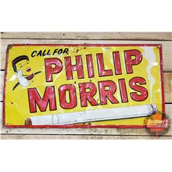"""Tin Sign : Call for Philip Morris (14""""H x 27""""W)"""