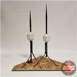 Pair of Glass Ball Lightning Rods