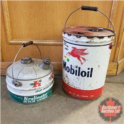 2 Pails: 5 Gallon Mobile Oil & Kralinator