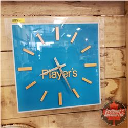 """Players Advertising Wall Electric Wall Clock (15"""" x 15"""")"""