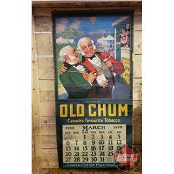 """Old Chum 1938 Calendar (Starts March) (37""""H x 18""""W)"""