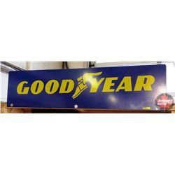 "Tin Sign - 2 Sided ""Good Year""  (12"" x 48"")"