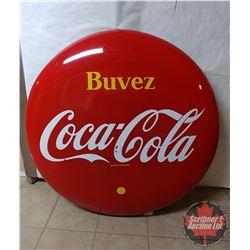 """Porcelain Coca Cola 48"""" Button """"Buvez"""""""
