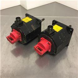 (2) Fanuc A06B-0034-B075 AC Servo Motor