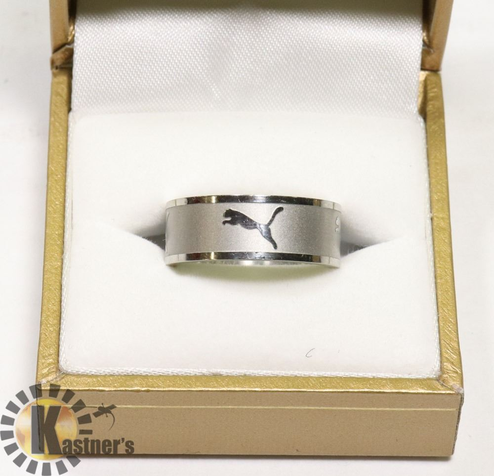 STAINLESS STEEL PUMA RING SZ 9