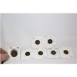 Nfld One Cent Coins (7)
