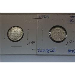 Nfld Ten Cent Coins (2)