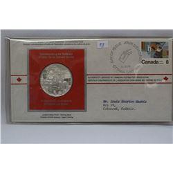 Cda Postmaster' Assoc. Medal & Orig. Stamped Envelope - NO GST