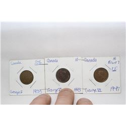 Canada One Cent Coins (3)