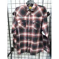 NEW WORKING SPORT XL SNAP FLANNEL WESTERN MEN'S