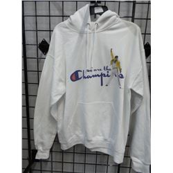 NEW SZ LG HOODIE WE ARE THE CHAMPIONS