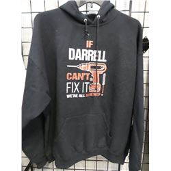 NEW 2XL DARELL THEMED HOODIE BLACK
