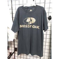 NEW LG MOSSY OAK BLACK TEE SHIRT
