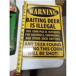 NEW WARNING METAL SIGN