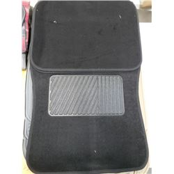 NEW BLACK 4PC FLOORMATS