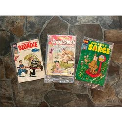 1950's Harvey & DC Comic Books, Blondie, Sad Sack & The Sarge, & Sgt Bilko's Private Doberman
