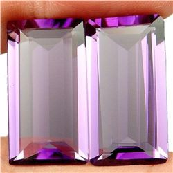 27.75ct. Purple Amethyst Baguette Pair