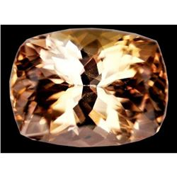 Top Cutvvs 11.95ct Golden Color Cushion Shape Topaz - Good Luster