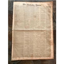 October 7, 1840 Newspaper, The Charleston Courier, South Carolina
