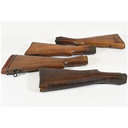 Four Enfield Butt Stocks