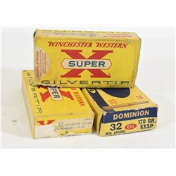 56 Rounds 32 Win Spl Factory Ammo