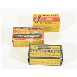 150 Rnds Vintage Boxes of 22LR Ammunition