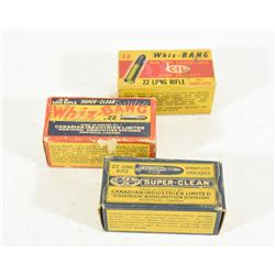 150 Rnds Vintage Boxes of 22LR Ammunition