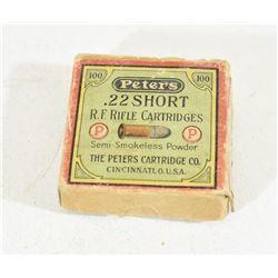 Vintage Peters 22 Short - 75 Rounds