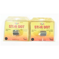 Star DOT Fiber Optic Plain Barrel Sights