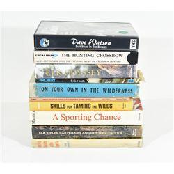 Box Lot Books & VHS Tapes