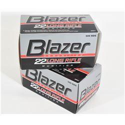 1000 Rounds Blazer 22LR 40grn