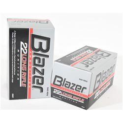 1000 Rounds Blazer 22 LR 40grn