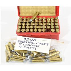 67 Rounds Reloaded 32-20 115gr Lead RN