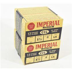 "50 Rnds Imperial 12 Ga x 2 3/4""  Lead # 4"