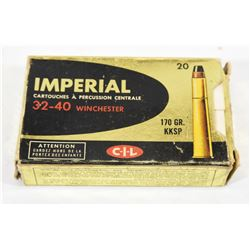 20 Rounds Imperial 32-40 170 Grn KKSP