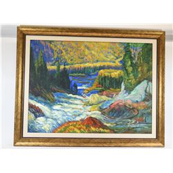 Original Landscape Oil Fall Painting